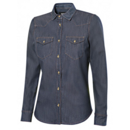 CAMISA DENIM STRETCH MANGA...
