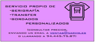Servicio propio de SERIGRAFIA - TRANSFER - BORDADOS PERSONALIZADOS